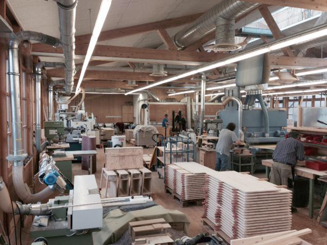 Blick in die Holzverarbeitung Machtlfing