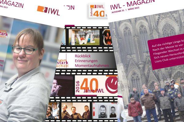 Verschiedene Titelseiten des IWL-MAGAZIN