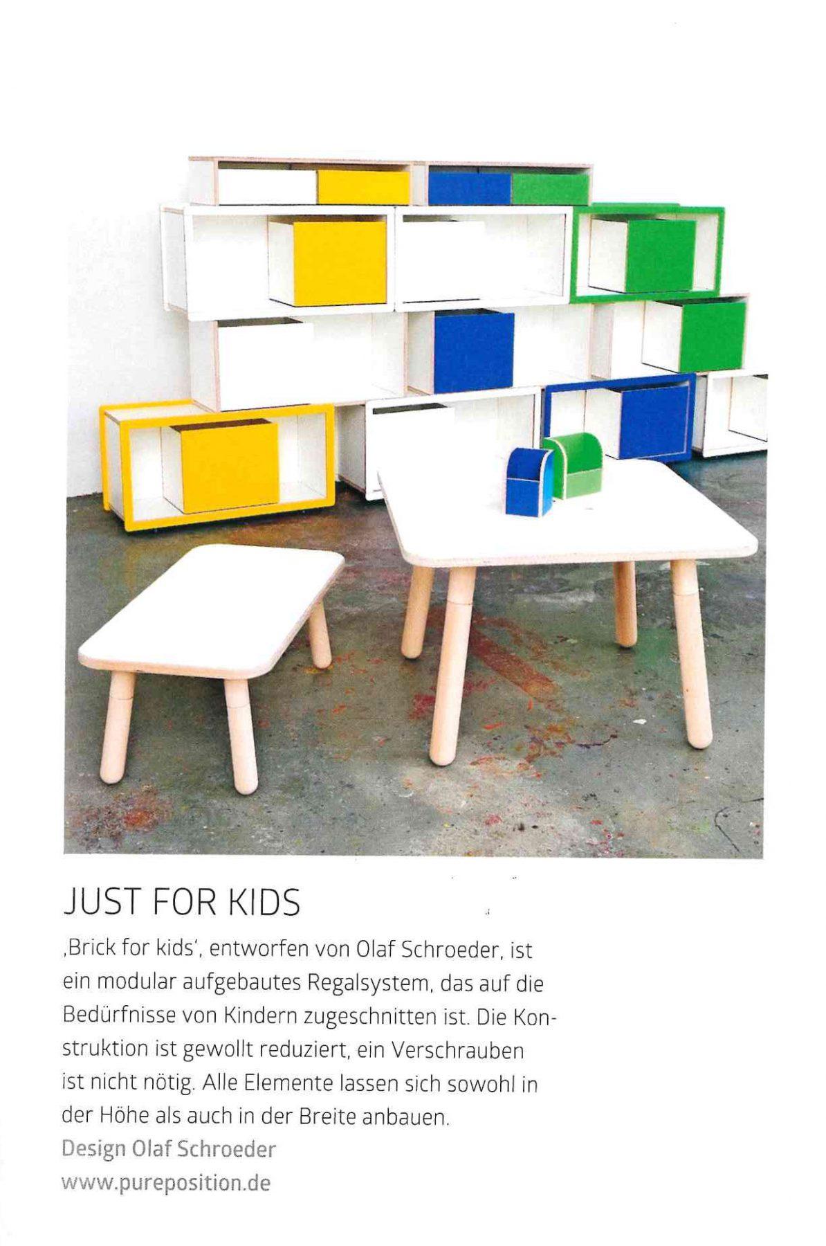 Artikel in der Zeitschrift md über brick for kids