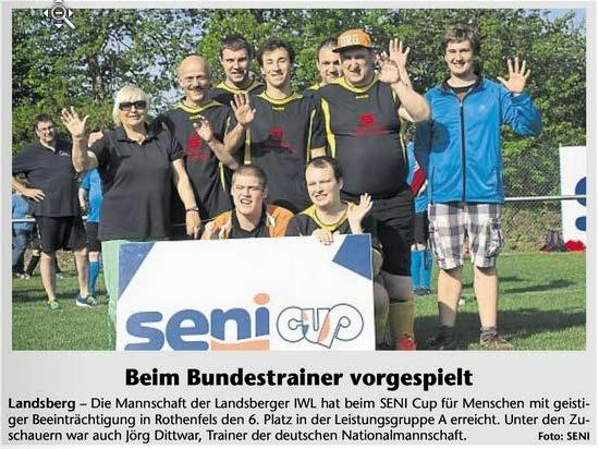 """Artikel """"Beim Bundestrainer vorgespielt"""""""