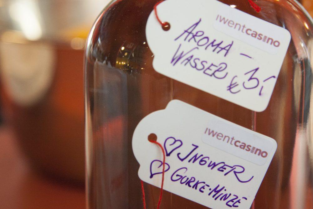 Bild von einem Aromawasser in der Geschmacksrichtung Ingwer-Gurke-Minze