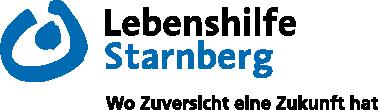 """Logo und Claim der Lebenshilfe Starnberg. """"Wo Zuversicht eine Zukunft hat."""""""
