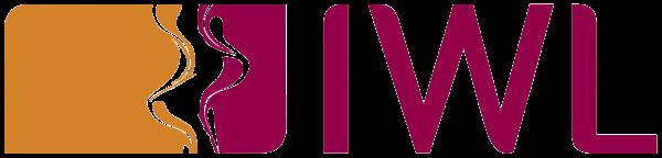 Logo der IWL in den beiden Farben orange und bordeaurot