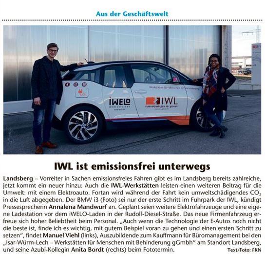 IWL ist emissionsfrei unterwegs