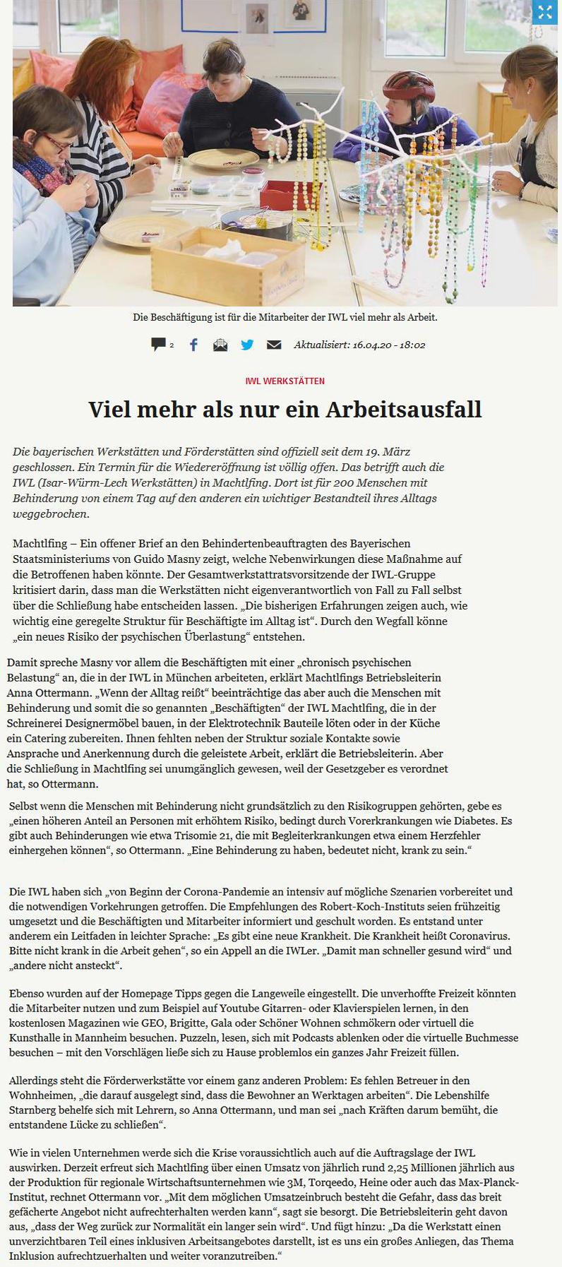 IWL-Werkstätten_Starnberger Merkur