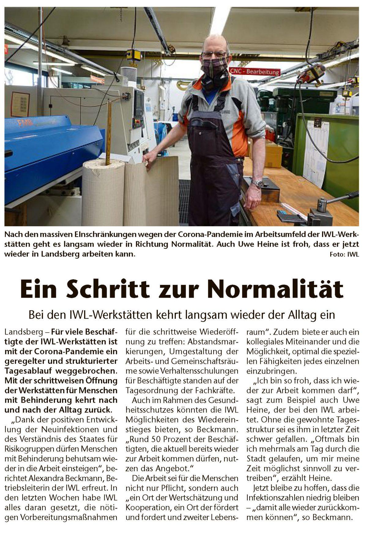 IWL Werkstätten in Kreisbote Landsberg