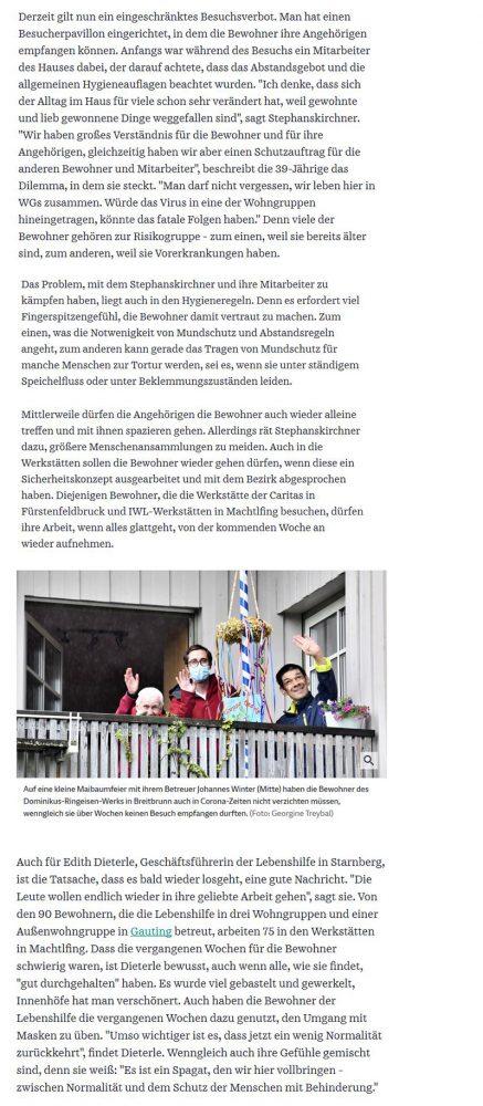 Süddeutsche Zeitung IWL-Werkstätten