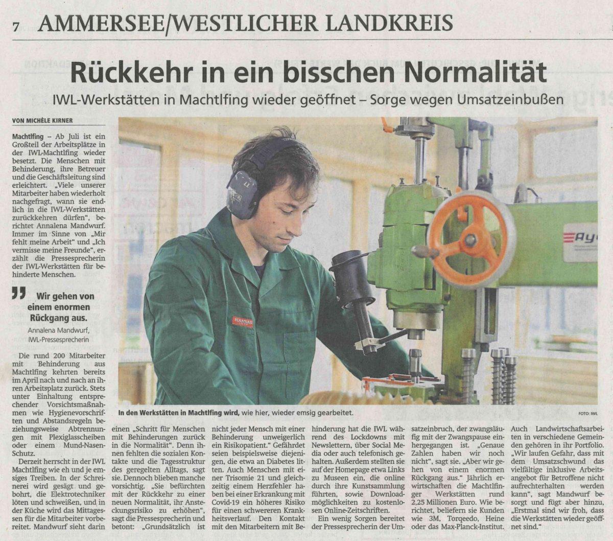 IWL-Werkstätten Starnberger Merkur