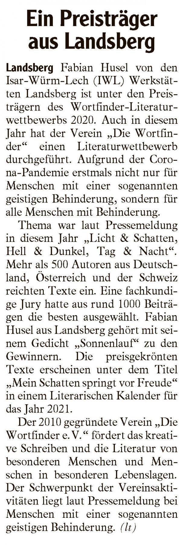 Fabian Husel IWL Landsberger Tagblatt