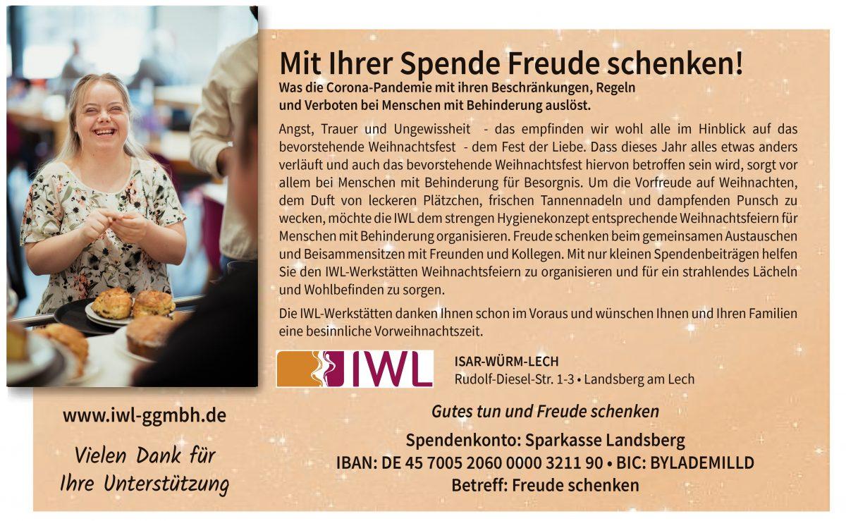 Mit Spenden Freude schenken IWL gGmbH Kreisbote
