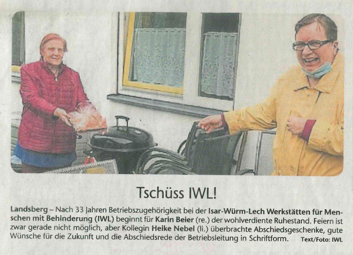 Zeitungsartikel IWL Kreisbote Landsberg