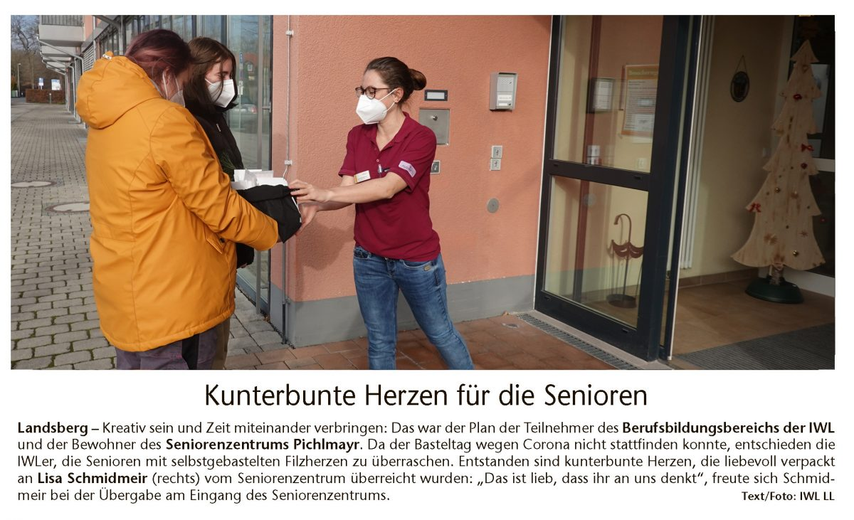 Spendenübergabe IWL Kreisbote Landsberg