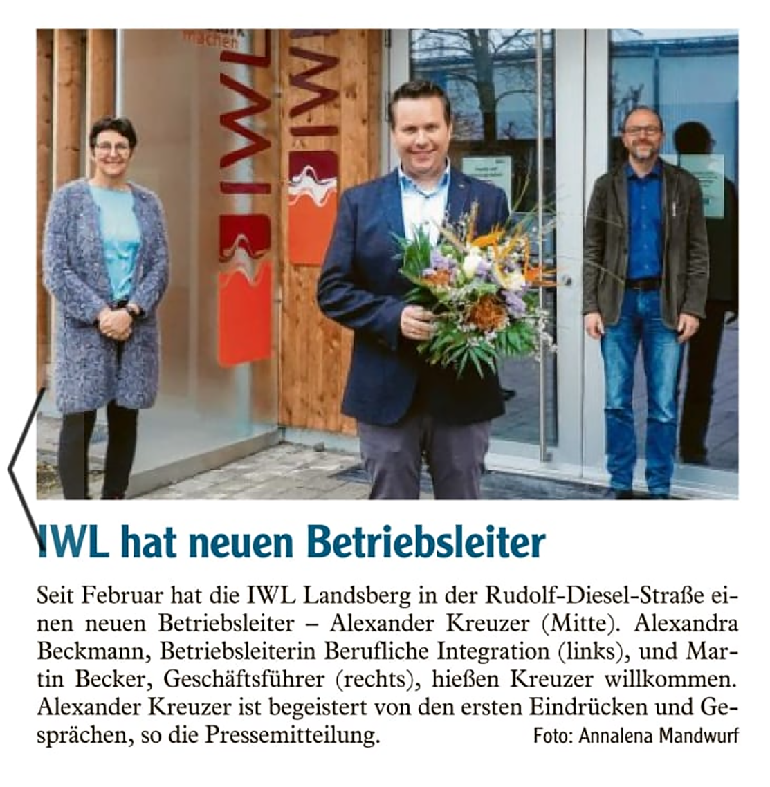 Neuer Betriebsleiter IWL Landsberger Tagblatt