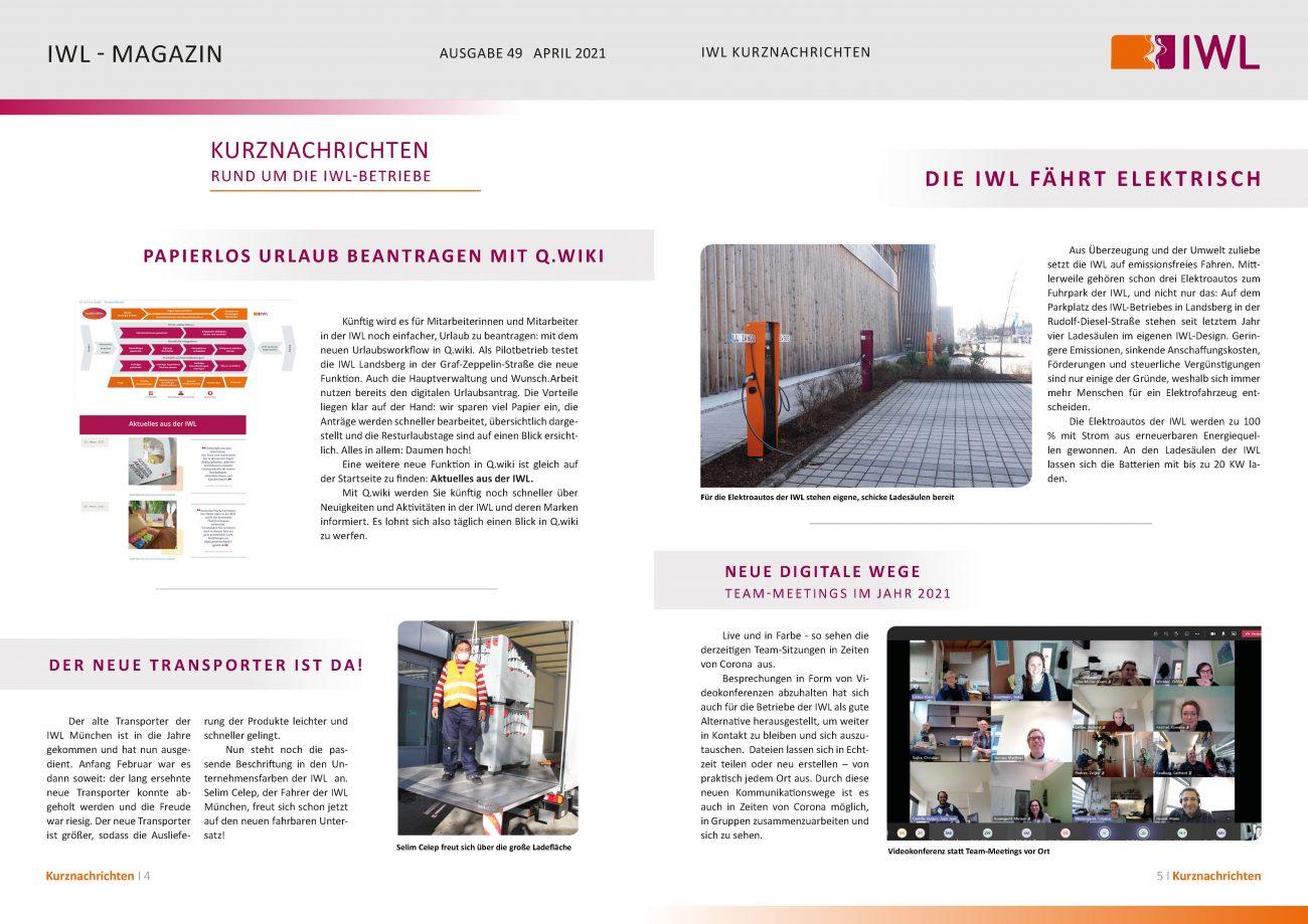 IWL-Magazin Kurzgeschichten aus den IWL-Betrieben