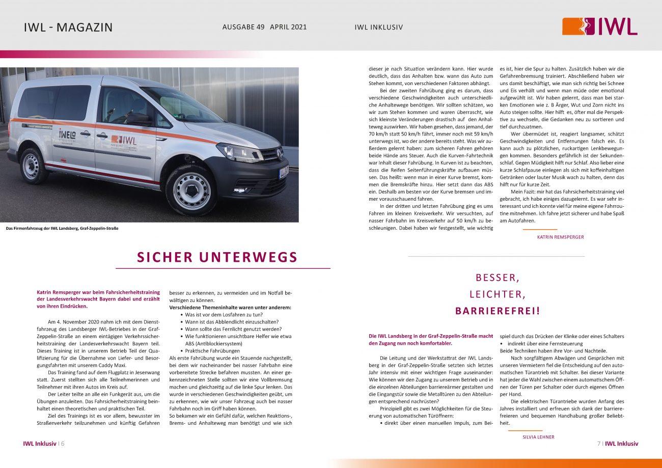 IWL-Magazin Fahrsicherheitstraining mit dem KFZ
