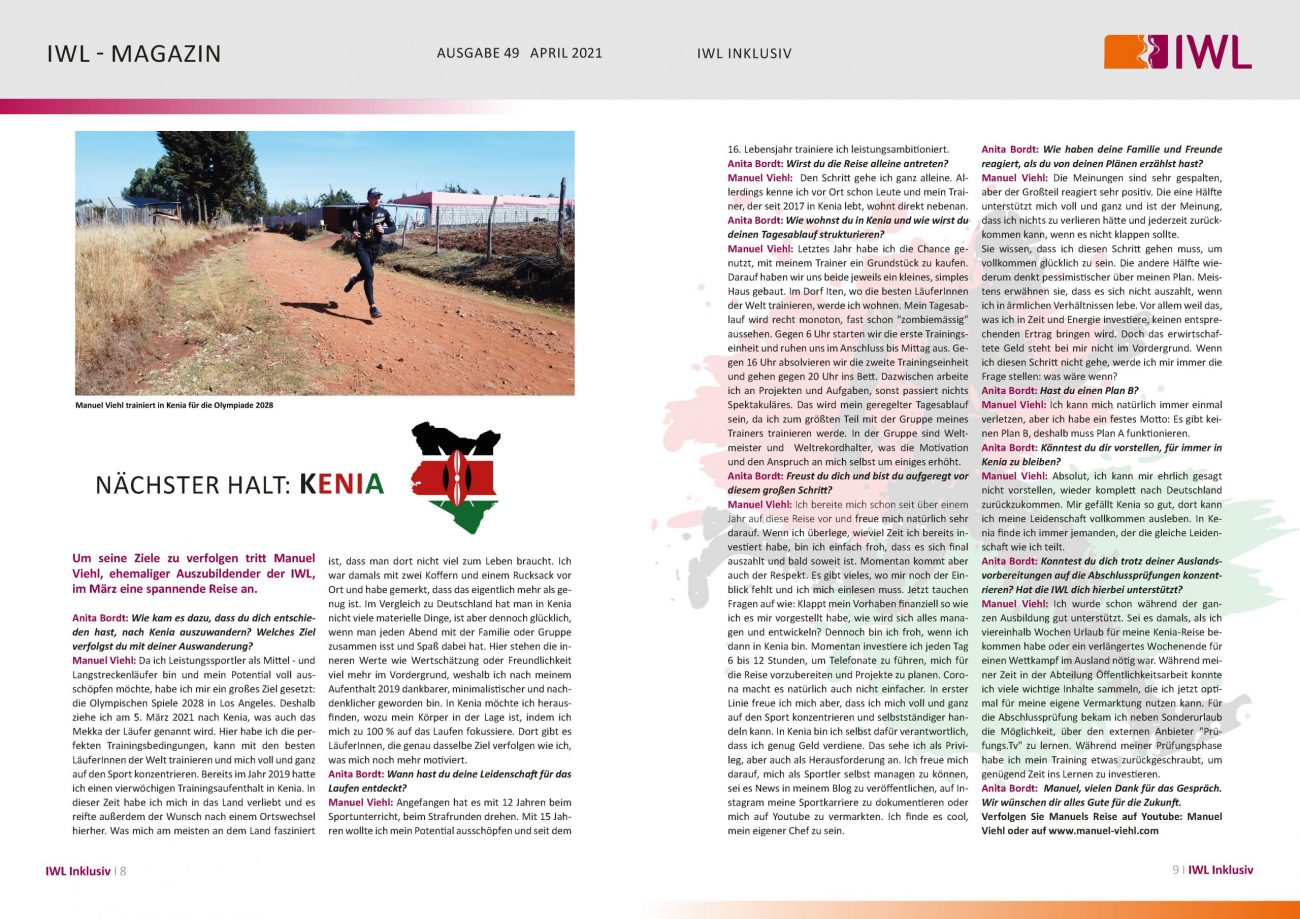 IWL-Magazin Interview mit Manuel Viehl über seine Auswanderung nach Kenia